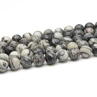 Wholesale New arrivals multi size Natural gemstone cabochon Round black picasso jasper bead strand for jewelry making GB007