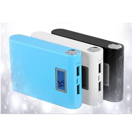 LCD display power bank 12000 mah, 18650 battery, USB backup battery, LED flashlight
