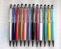 Wholesale Crystal stylus pen for iPhone5 iphone4 S4 Z10 S3 ipad Ball touch pen for Capacitive screen HOT free DHL