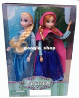 Wholesale Hot Sell Frozen Girls Inch Frozen Anna and Frozen Elsa Good Girl Gifts Girl Doll fashion Dolls Freeshipping set