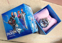 Wholesale 2014 Lovely Cartoon frozen watch Wristwatches WITH BOX amp GIFT box