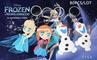 Wholesale D Cartoon Movie Frozen doll keychain Elsa Anna Olaf keychains dolls