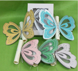Wholesale Scroll Wedding Invitation Classical Butterfly Wedding Invitation Cards With Shinning Diamond