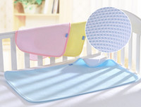 Wholesale 2016 New S M L D Bamboo Fiber Changing Pads Infant Waterproof Breathable Covered Edge Super Soft Baby Mats NP