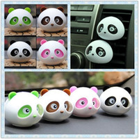 Wholesale Mix color Cute panda Air Freshener Car perfume holder Cartoon design car perfume seat car auto air purifier