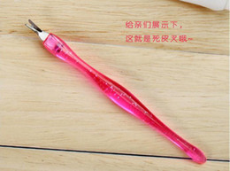 Wholesale Genuine Manicure tool exfoliating pick fork dead skin nail file cuticle scissors of dead skin to push