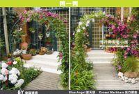 Nursery Pots Nursery Pots - Climbing frame wedding flower arch shelf road on rattan shelf loofah blackish green grapes