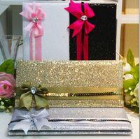 bags programs - 50pcs Wedding Cards With Bag Pack Wedding Invitation Card With Ribbon Elegant Wedding invitations