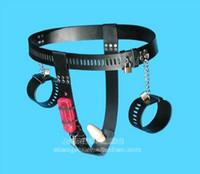 Restraints Clothing Male Chinese mainland Alternative Sex SM supplies female vibration anal plug vaginal suppository handcuffs chastity belt device chastity pants anti- derailm