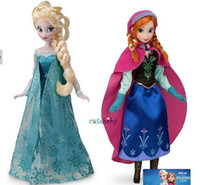 Wholesale 2014 fashion kids toys baby frozen dolls action figures Elsa Anna dolls toddler toys made in china sets FREE EMS T001