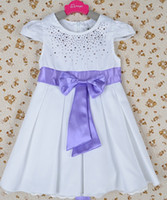 children apparel - New Girls Bontique Apparel Cap Sleeve Sweetheart Bow Belt Hotfix Rhinestone Dress Flower Girl Princess Dress Child Ruffle Dresses I0044