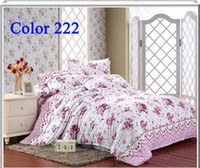 Cheap Hot sell bed sheet bedding set king size pink bedspread on the bed designer brand bed sheet duvet cover set