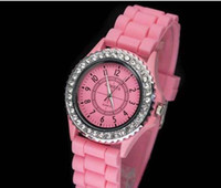 Wholesale VIP Seller Fashion Geneva Watch Jelly Gel Silicon Girl Women s Quartz Wrist Watch Candy Colors