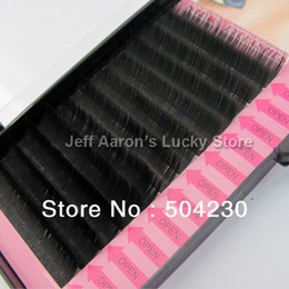 Wholesale 4 Trays mm mm mm mm C C Lash Curl Black Individual Silk False Eyelashes Eye Lash Extension Kit Set