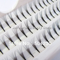 Wholesale 3 trays mm mm mm D Lash Curl Natural Individual False Eyelashes Extension Knosts per tray Eye Lash per knot