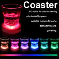 Wholesale KTV CLUB Wedding birthday Party Christmas festival transparent cup bottle Decorative LED coaster