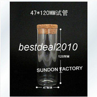 Glass Yes 47120-3 Fedex Free shipping Wholesale 150ml blass bottle with wooden cork, glass jar vials. storage craft wishes bottle