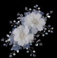 Wholesale new arrive white flower hair ornaments Bridal Jewelry headwear wedding jewelry Wedding accessories