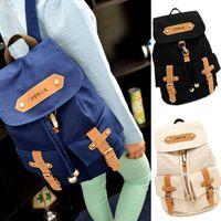 Wholesale S5Q Korean Cute Women s Lady Vintage Satchel Backpack Shoulder School Bag Canvas AAACYS
