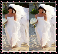 A-Line Reference Images Sweetheart 2014 Collection Celebrity Wedding Dresses For Bride Megan Fox Flowing Chiffon Sweetheart A Line Sleeveless Bridal Gowns Custom Made DX518