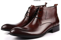 Wholesale new high quality men s fashion leather boots dress shoes genuine leather shoes leather boots