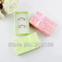 Wholesale Jewelry Box New Fashion Design Colorful Paper Jewelry Gifts Packaging For Earrings Or Wedding Rings For Women