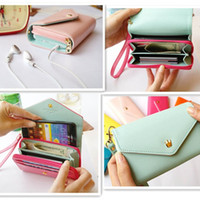 Wholesale PU Leather Flip crown smart pouch Cover phone case mobile phone bag card case pu wallet for iphone4 s iphone g Samgusng S3 s2