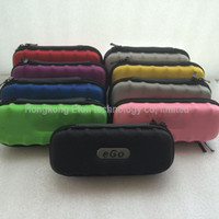 Wholesale 2014 Newest Ego case ego leather bag electronic cigarette carry bag colors with Zipper New material great quality