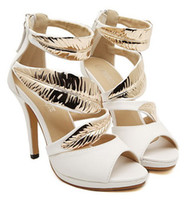 Women Stiletto Heel PU 2014 Summer decorative metal stiletto sandals Roman shoes nightclub Princess Item: 9121
