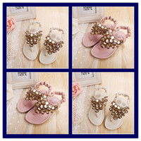 Wholesale Princess Style Childen s Fashion Leather Shoes Girl s Korean Sandals Kid s Designer Lovely Shoe girl s Wedding Party shoes new Slippers