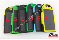 Wholesale Universal Dual USB Solar Charger Power Bank mAh waterproof Portable Solar Battery External Battery Charger Power bank hang