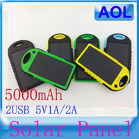 Wholesale Sport solar charger mAh power bank emergency charger mobile power supply with pothook Waterproof Dustproof unique design