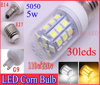 Dimmable LED Corn Bulb 5050 SMD 30 LED Light 5W E27 G9 E14 W...