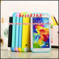 For Samsung Plastic For Christmas For Samsung Galaxy S5 SV I9600 NX ID Credit Card Slot Box Hybrid silicone gel plastic Hard Case Luxury Camo skin Cover cases