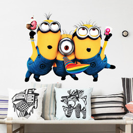 Wholesale Despicable Me Decals Cartoon Wall Stickers for Kids Bedroom for Baby Playroom