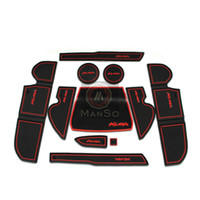 Wholesale High Quality Rubber Gate Pad Door Mats Carpets Cup Cushion Cover for Ford Kuga Escape Auto Accessories