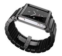 No aluminum For iPod Nano 1pcs New Hot!! Metal aluminum material LunaTik Lynk Watch Kits Band luna tik Wrist Strap Case For iPod Nano 6