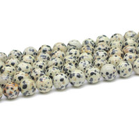 Wholesale New arrival Nutural gemstone cabochon round Dalmation Stone strand globalwin jewelry beads GB014