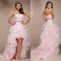 2015 Pink Hi Lo Prom Quinceanera Graduation Homecoming Dress...