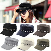 Wholesale 2014 New Fashion Unisex Women Men Cool Punk Rivet Studded Spikes Baseball Cap Hat Beanie fx236