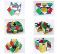 Wholesale 36 Pieces Magic Snake Snakelike Shape Cube Puzzle Toy For Kids Adults L628