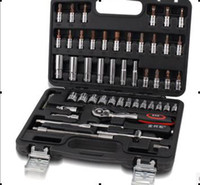 Wholesale Special package mail socket set auto tool suite German quality five gold