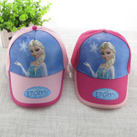 Wholesale styles cartoon Frozen princess fashion lovely child hats baseball cap hats kids Elsa sun caps snapback hats polo hats