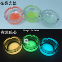 Wholesale Shipping skid glass ashtray sent her boyfriend Father s Day gift ideas personalized gifts luminous ashtray