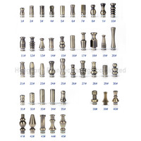Wholesale E cigarette Metal Stainless Steel and Brass Drip Tips for DCT vivi nova CE7 CE7S DCT UDCT Atomizer Mouth Mouthpiece
