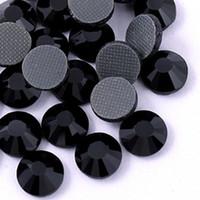 Wholesale DMC hotfix rhinestone ss6 ss10 ss16 ss20 COLOR JET BLACK bling Crystal