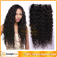 Wholesale Remy Brazilian Unprocessed Hair Weaves Deep Wave Curly Hair Weft Mixed Lengths Virgin Human Hair Extensions quot quot g pc