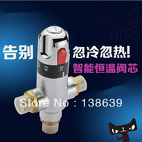 Wholesale Brass Thermostatic Mixing Valve solar water heater valve Thermostat bathroom faucet control the Temperature