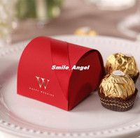 Wholesale Candy Favors Red ribbon W candy boxes distinguished European upscale Wedding Packages Ferrero boxed candy box Wedding Supplies New POP