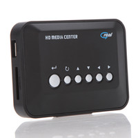 Wholesale New P HD Media Center RM RMVB AVI MPEG Multi Media Video Player with AV YPbPr USB SD MMC Port Remote Control V481 DHL Free